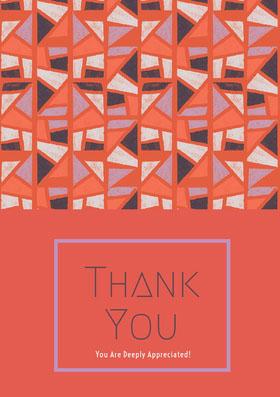 thank you card Biglietto di ringraziamento