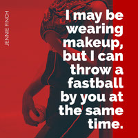 Red Inspirational Jennie Finch Quote Square Instagram Graphic Basketball