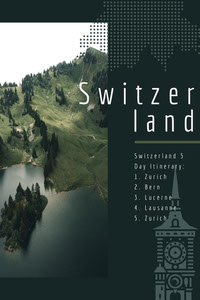 Green and White Switzerland Social Post programmes