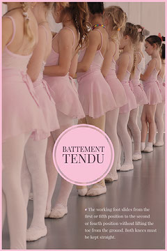 Pink Battement Tendu Ballet Pinterest Infographic with Girls Dance Flyer