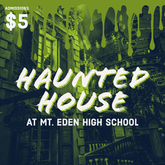 Green Slime Hunted House Ad Instagram Post Scary