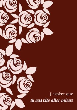 roses get well soon cards  Carte de bon rétablissement