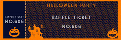 Orange Spooky Haunted House and Pumpkin Halloween Party Raffle Ticket Halloween Raffle Ticket