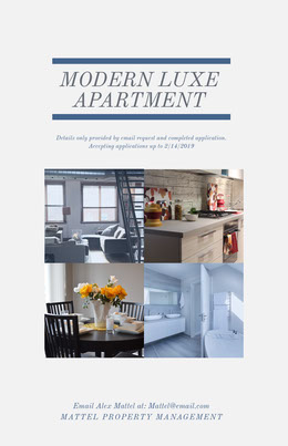 Luxury Apartment Real Estate Agency Flyer Prospectus immobilier
