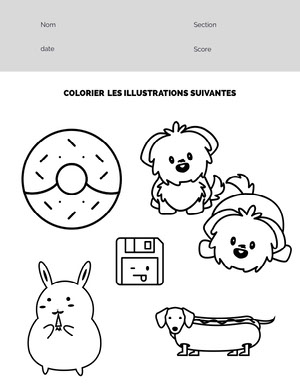figures coloring worksheet Fiche d'exercices