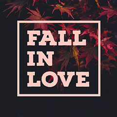 Pink and Black Toned Fall in Love Meme Instagram Post  Fall
