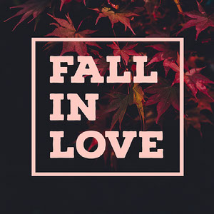 Pink and Black Toned Fall in Love Meme Instagram Post  Tipografía gratis