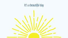 Blue Yellow Sun It's a Beautiful Day Zoom Background Wallpaper Sun