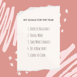 Dusky Pink Yearly Goals Instagram Square