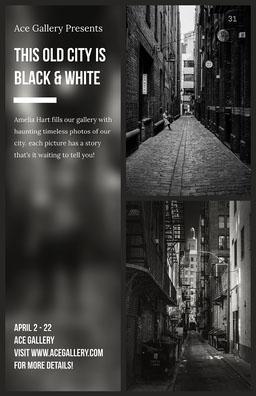 Grayscale Art Exhibit Poster