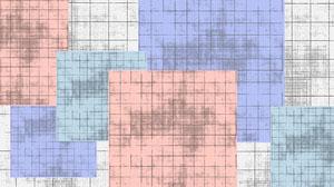 Purple Pink Grunge Grid Squares Zoom Background Fond d'écran d'ordinateur