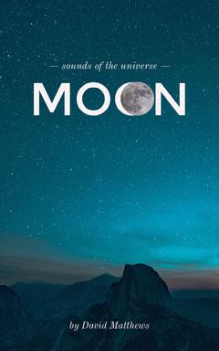 Dark Blue Night Sky Moon Kindle Cover Moon