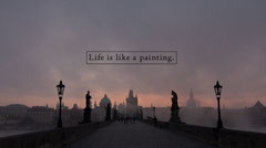 Life is like a painting. Sunset