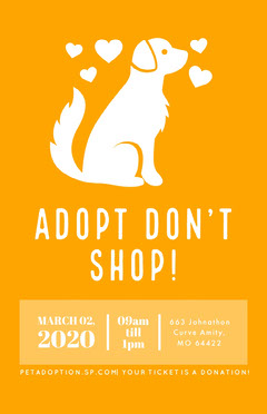 Pet Adoption Poster Pets