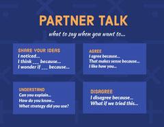 Orange and Blue Partner Talk Social Post Classroom