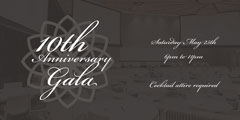 Grey and White Gala Facebook Page Cover Gala Flyer
