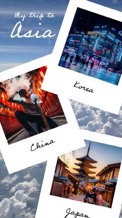 asia trip instagram story Sky
