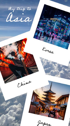 asia trip instagram story Japan