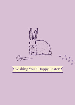 Violet and White Wishing Card Easter