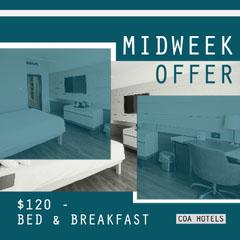 Teal Squares Hotel Midweek Offer Instagram Square  Hotels