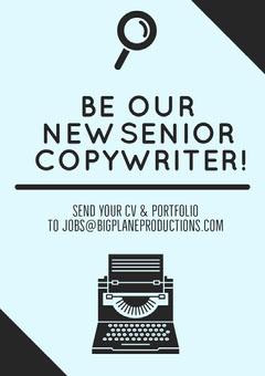 copywriter we're hiring flyer Now Hiring Flyer