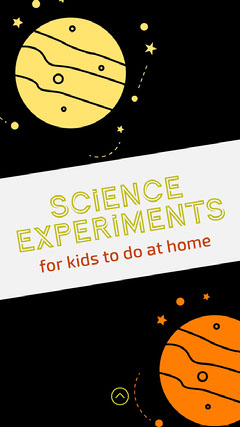 Outer Space Style Science Experiment Instagram Story  Space