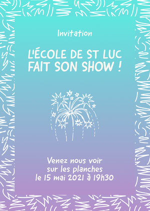 Blue Gradient School Party Invitation Invitation à une fête
