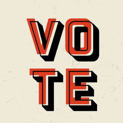 Red and Black Vote Instagram Square Election