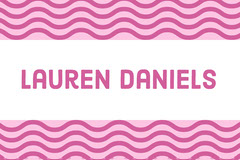 Pink Wave Pattern Name Tag Pattern Design