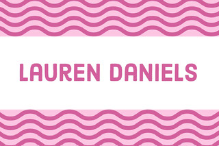 Pink Wave Pattern Name Tag Navneskilt