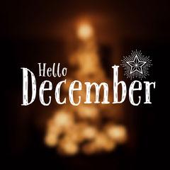 White and Gold Meme Hello December Instagram Post Christmas