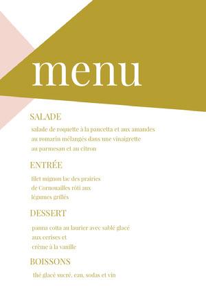 modern wedding menu  Menu