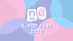 Pink and Blue K Pop Youtube Channel Art  Festival