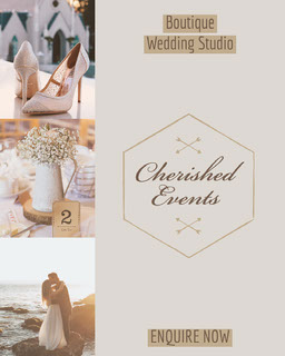 Brown Cherished Events Wedding Studio - Instagram Portrait