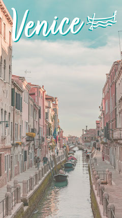 Blue Skys over Venice Snapchat Geo Filter Italy