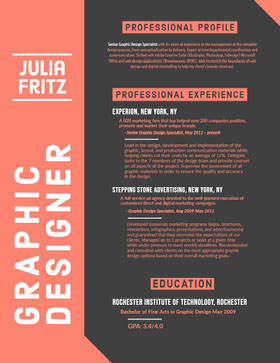 Traditional Graphic Designer Resume Professioneller Lebenslauf