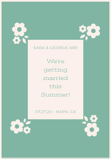 We're getting married this Summer!  Wedding Cards