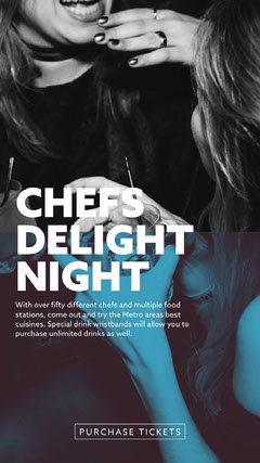 CHEFS<BR>DELIGHT<BR>NIGHT Party