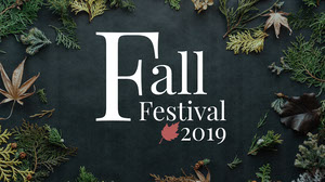 Green and White Fall Festival Social Post Poster per festival musicali