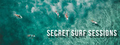 Blue and White Aerial View of Surfers Secret Surf Sessions Facebook Profile Cover Ocean