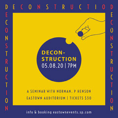 Yellow and Violet Deconstruction Seminar Igsquare Seminar Flyer