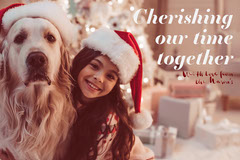 Cherishing Our Time Together Christmas Card Family