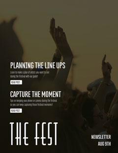 The Fest Newsletter Dance Flyer