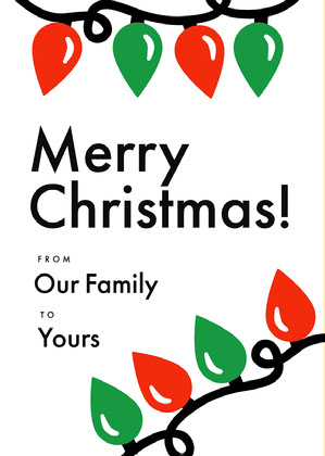 White Modern Christmas Postcard Christmas Card