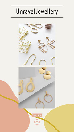 Pink Yellow Jewellery Handmade Minimal Style Instagram Story Shopping
