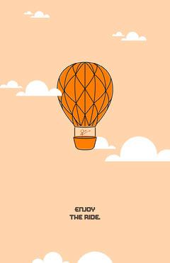 enjoy the ride poster Balloon