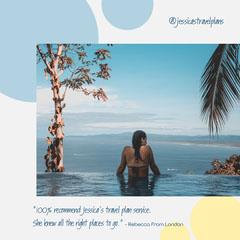 Blue White Yellow Beach Holiday Instagram Square Sun