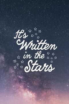 Starry Sky & White Text Pinterest Post Night