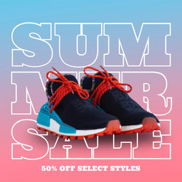 blue and pink shoe sale instagram