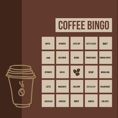 Coffee Bingo Coffee
